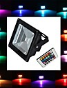 20 W 350-450 lm LED Floodlight 1 LED Beads High Power LED Remote-Controlled RGB 85-265 V
