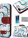 Коко fun® ретро воды цветочный узор искусственная кожа Полный чехол тело пленкой, стоять и стилус для iPhone 5 / 5s