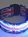 Dog Collar LED Lights Nylon Blue