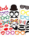 31 pcs papier de carte photo stand props partie faveur de plaisir (verres& chapeau& moustache& chapeau)