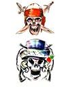 1pc Pirate Skull Waterproof Tattoo Sample Mold Temporary Tattoos Sticker for Body Art(18.5cm*8.5cm)