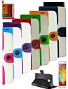 grain souris cuir PU cas complète du corps avec fente pour carte et support pour Samsung Galaxy Note 3 (couleurs assorties)