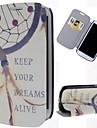 삼성 갤럭시 S3 I9300를위한 스탠드와 카드 슬롯이 꿈 포수 패턴 PU 가죽 전체 바디 케이스를 유지
