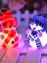 10 * 6cm electronique de Noel LED bonhomme de neige