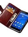 rétro PU cuir cas de tout le corps avec fente pour carte pour Sony Xperia Z3 (couleurs assorties)