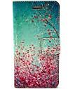 Для Кейс для iPhone 6 / Кейс для iPhone 6 Plus Бумажник для карт / со стендом / Флип / С узором Кейс для Чехол Кейс для Цветы Твердый