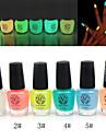 Серебристые лак для ногтей светящиеся в темноте (разные цвета, 6 мл)