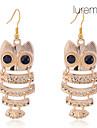 Lureme®Gold Plated Little Owl Earrings