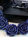 Mlle Rosé® bleu européens et américains vintage rose collier de résine
