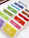 Inkpad штампы для бумаги ремесло ткани отпечатков пальцев альбом живописи 12 цветов