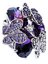 Bagues Affirmees Zircon Imitation de diamant Alliage Mode Violet Bijoux Soiree 1pc