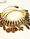 lureme®vintage feuilles pendentif bracelet ensemble