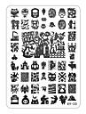 xyseries chic dizajn na noktima slike pečat žigosanje pločama manikura predložak xy23