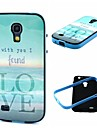 2-in-1 Found Love By the Sea Pattern TPU Back Cover with PC Bumper Shockproof Soft Case for Samsung S4 Mini I9190