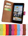 Solid Color Genuine Leather Full Body Case with Stand and Card Slot for Huawei Ascend G700 (Assorted Colors)