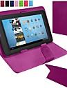 retournez cas de faux cuir avec support pour 7 pouces Tablet pc universelle (couleurs assorties)