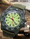 le sport montre bracelet toile de nylon visage de quartz de poignet militaire est super lumineuse hommes (couleurs assorties)