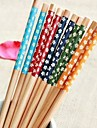 Floral Printed Bamboo Chopsticks(1 Pair Assorted Color)
