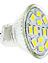 2W GU4(MR11) LED Spotlight 12 leds SMD 5730 Warm White Cold White 240-260lm 3500/6000K DC 12V