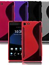 Kemile Trutworthy -Line TPU ilicone kin Cae Cover For ony Xperia Z3 Mimi Compact (Aorted Color)