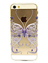 Large Blue Butterfly Pattern Hard Case for iPhone 5/5S