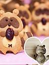 5 pecas cortadores de biscoito forma guaxinim dos desenhos animados criados, aco inoxidavel