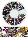 600pcs 12 cores em forma de gota de diamante nail art decoracao