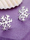 Women\'s Stud Earrings Sterling Silver Snowflake Jewelry For