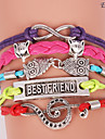 bracelets eruner®leather multicouche alliage charmes colorés bracelet main
