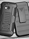 Strap Clamp Drop Resistance Armor Protective Jacket with Stand and Clip for HTC One M8