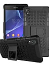Plastic Back Cover Cases with Stand Grid Pattern Special Design Case Cover for Sony Z2 (Assorted Colors)