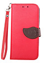 Leaves Pattern Clamshell PU Leather Full Body Case for HTC One (M8)(Assorted color)