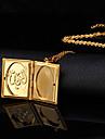 Женский Ожерелья с подвесками Медальоны Ожерелья Медь Позолота 18K золото Мода бижутерия Бижутерия Назначение Свадьба