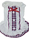 Cat Dog Dress Dog Clothes Plaid / Check Bowknot Purple Red Blue Cotton Costume For Summer Cosplay Wedding