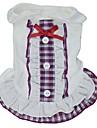 Chat Chien Robe Vetements pour Chien Tartan Noeud papillon Violet Rouge Bleu Coton Costume Pour les animaux domestiques Cosplay Mariage