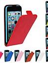 아이폰 5C - 풀 바디 케이스 - 한 색상/이 외 ( 레드/블랙/화이트/그린/블루/브라운/핑크/퍼플/로즈/오렌지 , PU 가죽 )