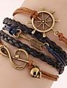 European Style Retro Fashion Note Anchor Arrow Multilayer Woven Bracelet inspirational bracelets