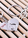 Heart Music Wedding Key Ring Keychain for Lover Valentine\'s Day(One Pair)