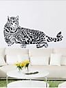 léopard sticker mural PVC