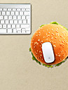 The Hamburger Design Decorative Mouse Pad Mac Skin Stickers Mac Accessories