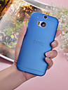 For HTC Case Ultra-thin / Translucent Case Back Cover Case Solid Color Hard PC HTC