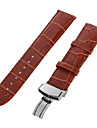 22mm Durable Coffee PU Watch Band Strap Pin Buckle Adjustable