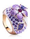 Women\'s Statement Rings Crystal Fashion Luxury Costume Jewelry Alloy Jewelry For Party
