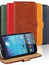 케이스 제품 Samsung Galaxy 삼성 갤럭시 케이스 카드 홀더 지갑 스탠드 플립 전체 바디 케이스 한 색상 PU 가죽 용 S4 Mini