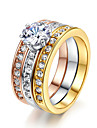 Statement Rings Crystal Simulated Diamond Alloy Classic Fashion Jewelry Wedding Party 1pc