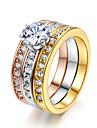Массивные кольца Кристалл Имитация Алмазный Сплав Классика Мода Бижутерия Свадьба Для вечеринок 1шт