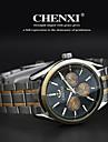 CHENXI® 남성용 손목 시계 석영 일본 쿼츠 스테인레스 스틸 밴드 실버