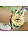 Women's Wrist watch Dress Watch Fashion Watch Quartz Hot Sale Nylon Band Charm Bracelet Red Green