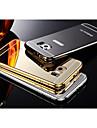 Pour Samsung Galaxy Coque Plaqué Miroir Coque Coque Arrière Coque Couleur Pleine Acrylique pour Samsung S6