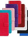 Coque Pour Samsung Galaxy Samsung Galaxy Coque Porte Carte Portefeuille Avec Support Clapet Coque Integrale Couleur unie faux cuir pour